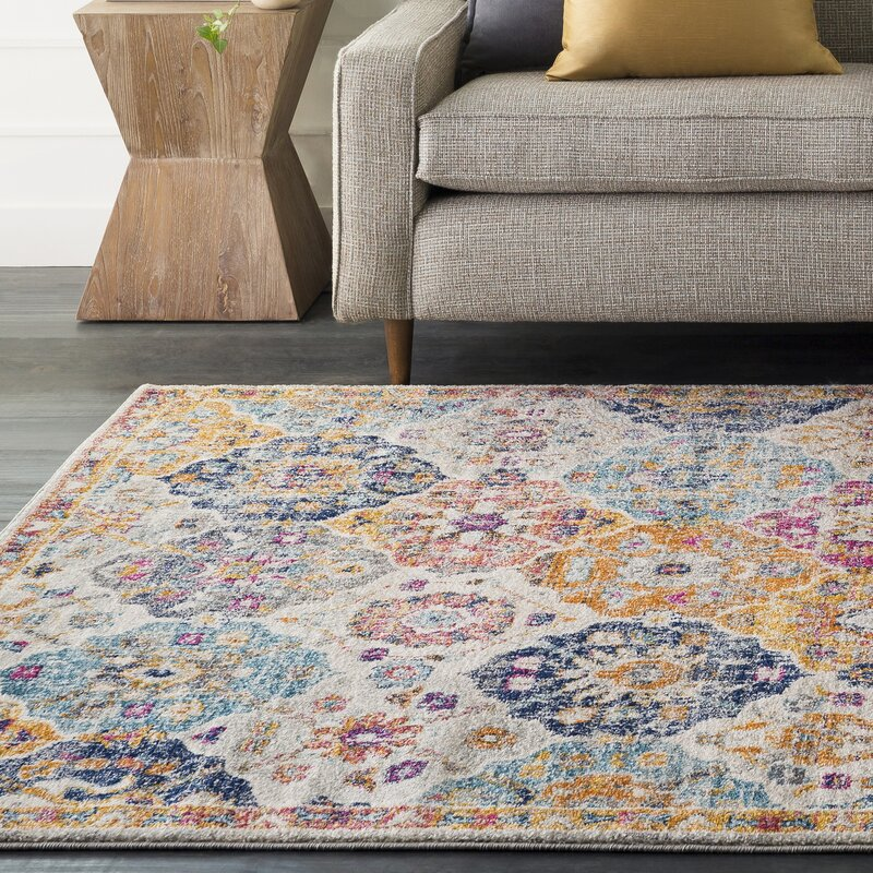 Mistana Hillsby Orange Blue Area Rug Amp Reviews Wayfair